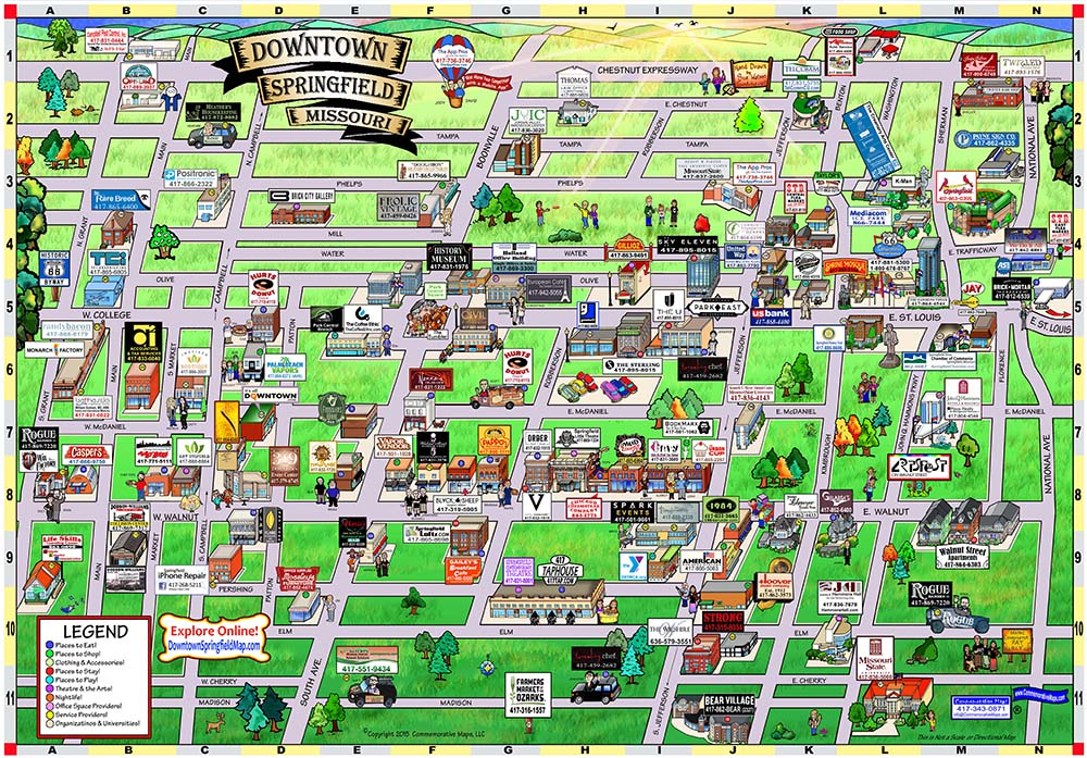 Downtown Springfield Map
